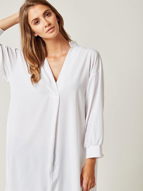 ea770f82326f Dámske tričká a mikiny   damska-predlzena-kosela-biela-lumide-lovel