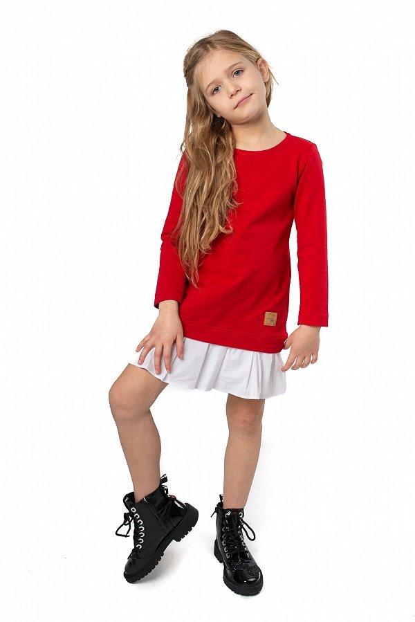a21ffae0ea89 Štýlové detské voľnočasové šaty Be happy - Červené