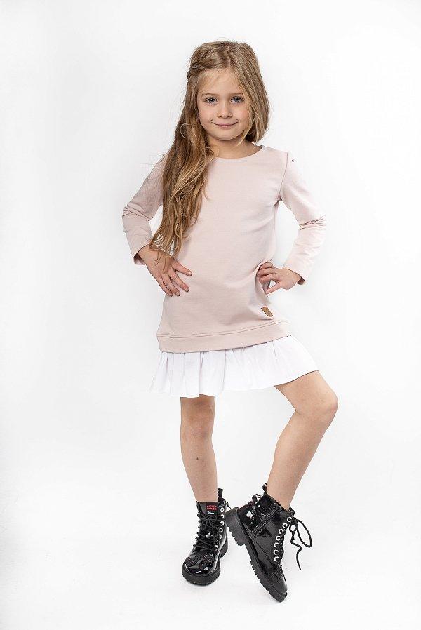 cc5d26cdf1de Štýlové detské voľnočasové šaty Be happy - Púdrovo ružové
